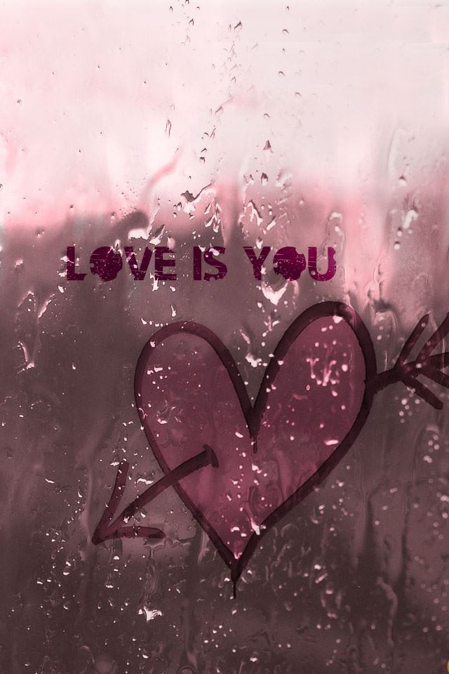 Love on the glass iPhone 4s Wallpapers Free Download