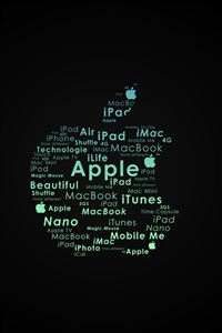 Apple Logo Typography iPhone 4s wallpaper