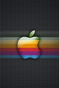 Exagon Rainbow Apple iPhone 4s wallpaper