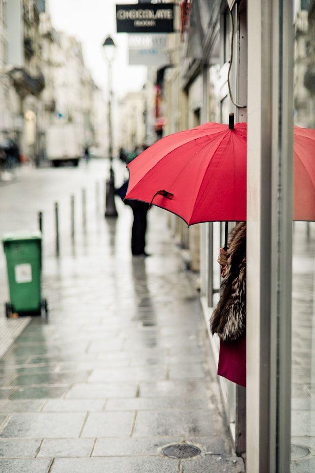 The Corner Of Red Umbrella IPhone 4s Wallpaper