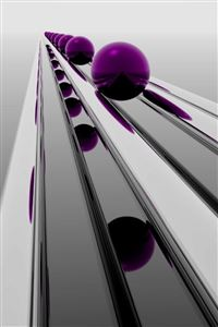 Abstract Purple Sphere iPhone 4s wallpaper