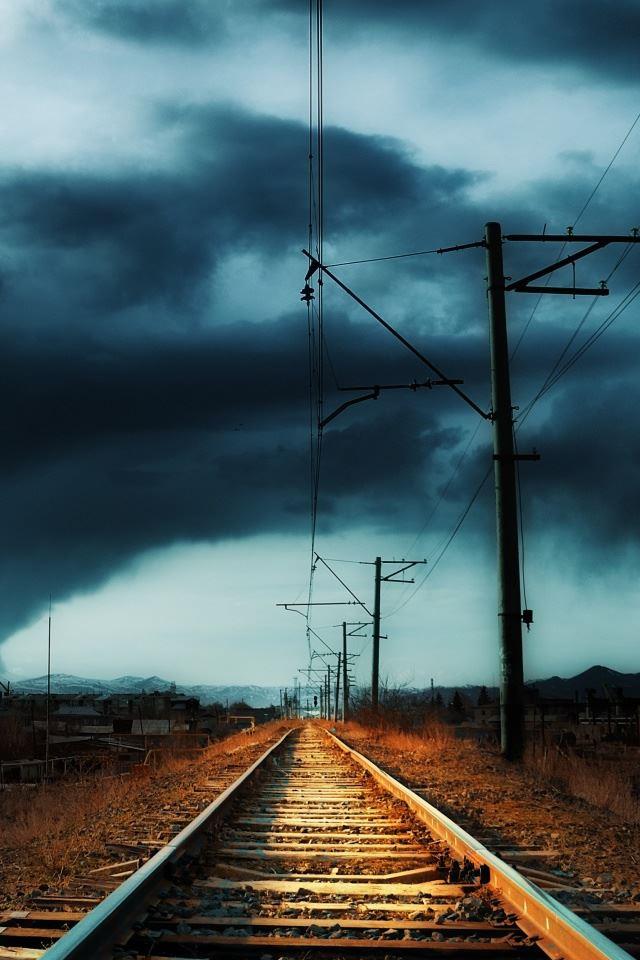 Armenia Gyumri Storm iPhone 4s wallpaper