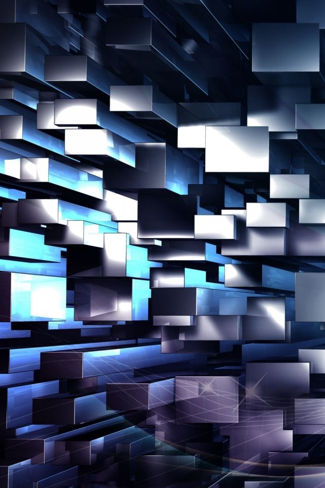 3D Geometric Background iPhone 4s Wallpapers Free Download