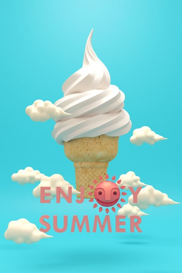 Happy summer iPhone 4s wallpaper