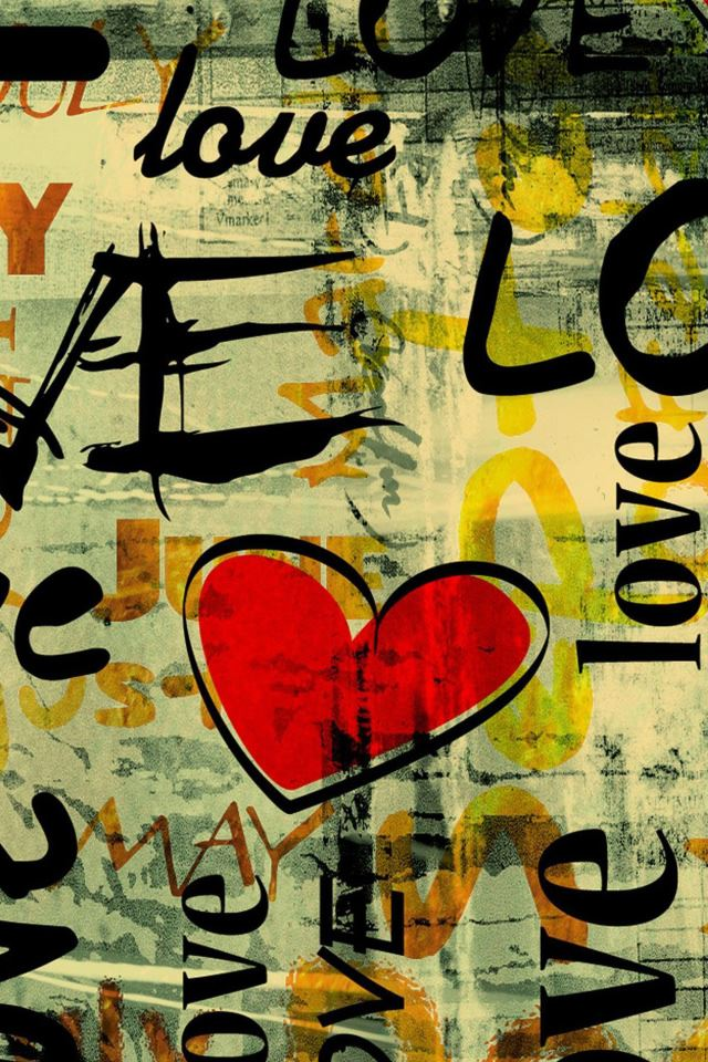 Love Written In Graffiti Iphone 4s Wallpapers Free Download