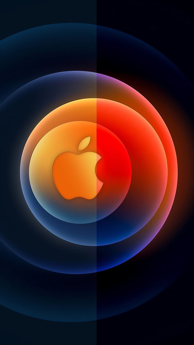 Apple Event 13 Oct DUO Logo by AR7 iPhone 8 wallpaper