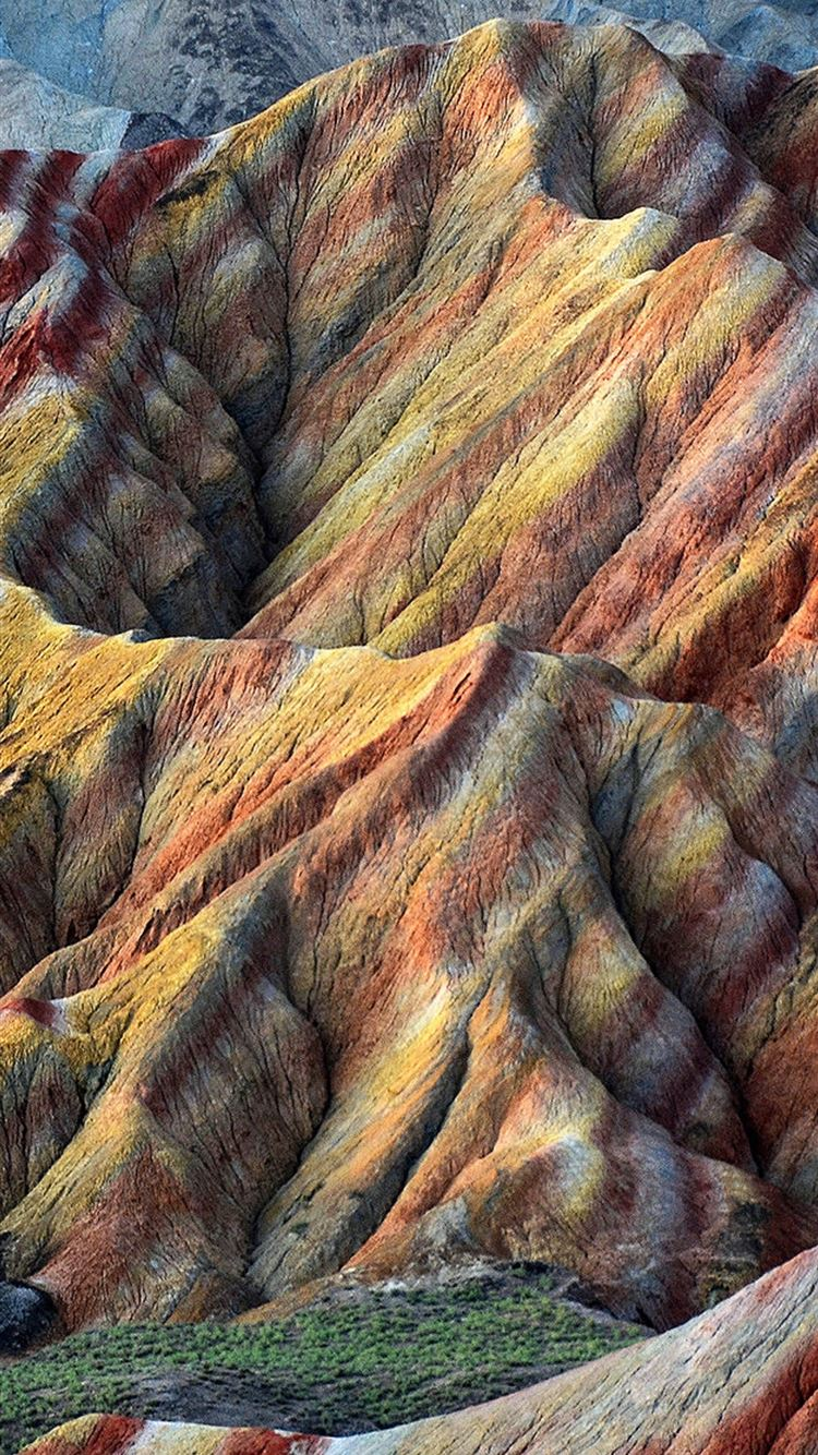 rocks landscape vivid mountains iPhone 8 wallpaper