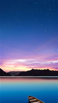 Wonderful Lake Night iPhone 6(s)~8(s) wallpaper