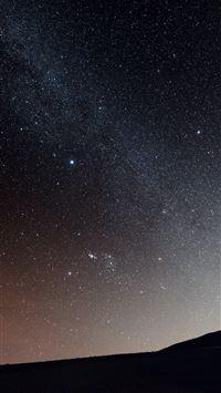 Milky Way Over Hill iPhone 6 wallpaper