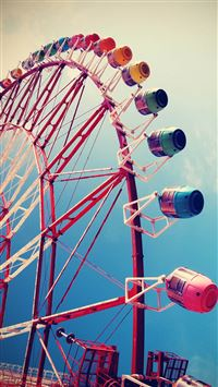 City Ferris Wheel iPhone 6(s)~8(s) wallpaper