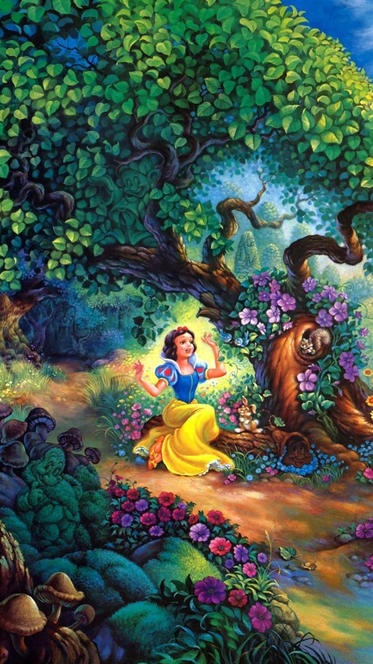 Snow White Fairy Forest Trees House