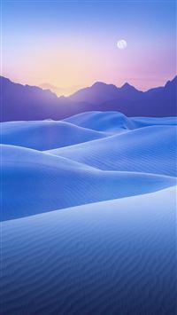 Blue Desert Sunset iPhone 6(s)~8(s) wallpaper