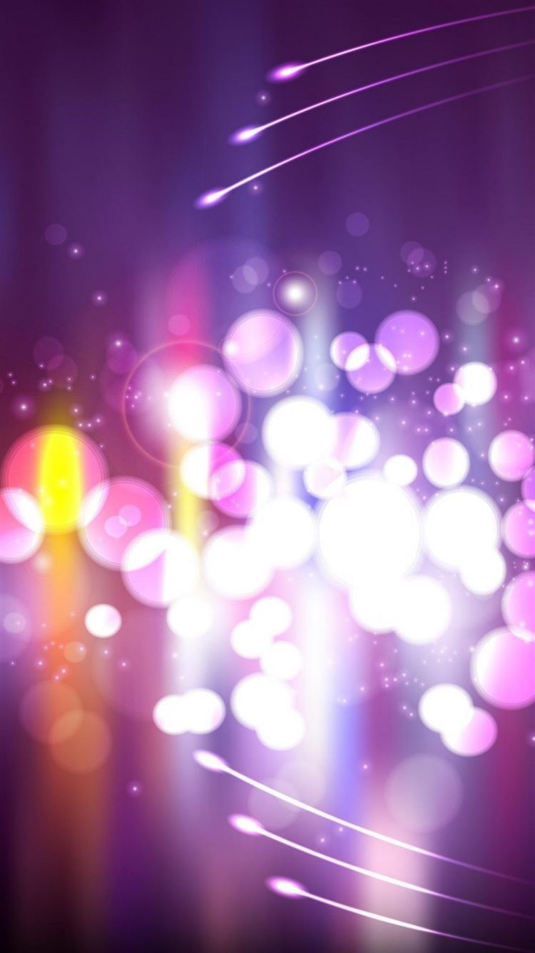 Abstract Purple Circle Bokeh Iphone 8 Wallpapers Free Download