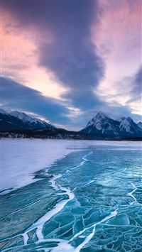 Nature Frozen Sea Level iPhone 6(s)~8(s) wallpaper