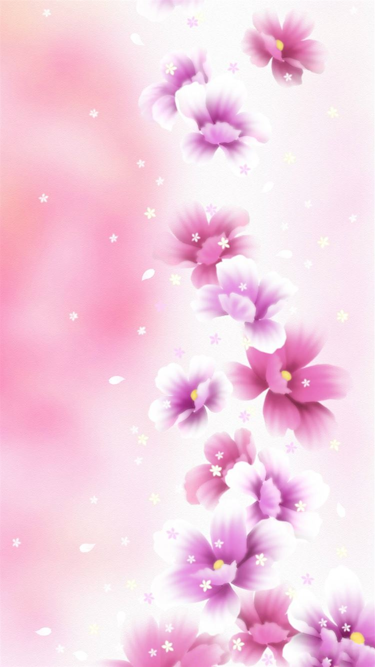 Dreamy Pink Flower Bouquet iphone 8 wallpaper ilikewallpaper com