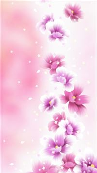 Dreamy Pink Flower Bouquet iPhone 6(s)~8(s) wallpaper