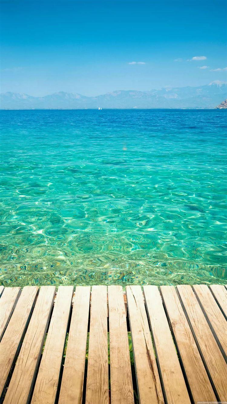 Clear Tropical Ocean Water Lockscreen Iphone 8 Wallpapers