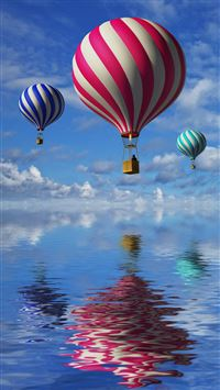 Candy Cane Colored Air Balloons iPhone 6(s)~8(s) wallpaper