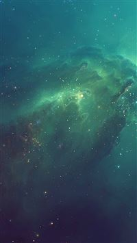 Green Starry iPhone 6(s)~8(s) wallpaper