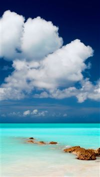 Clear Blue Sea Sky iPhone 6(s)~8(s) wallpaper