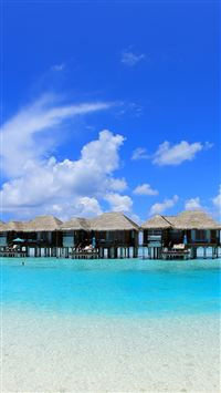 Overwater  Bungalows iPhone 6(s)~8(s) wallpaper