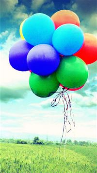 Colorful Flying Balloons iPhone 6(s)~8(s) wallpaper