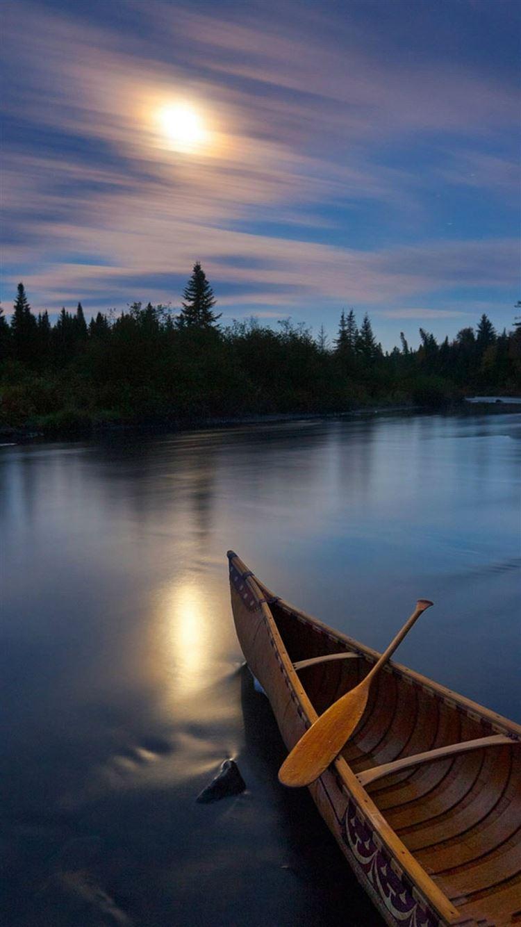 River Boat Sunset Silky Water iphone 8 wallpaper ilikewallpaper com