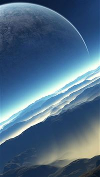 Fictional Exoplanet Space iPhone 6(s)~8(s) wallpaper