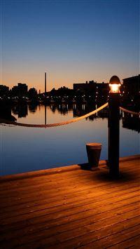 Wooden Pier Dusk Light  iPhone 6 wallpaper