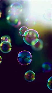 Bubbles Iridescence iPhone wallpaper