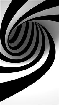 3D Abstract Black Swirl iPhone 6(s)~8(s) wallpaper