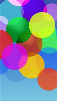 Fluttering Color Bubble iPhone 6(s)~8(s) wallpaper