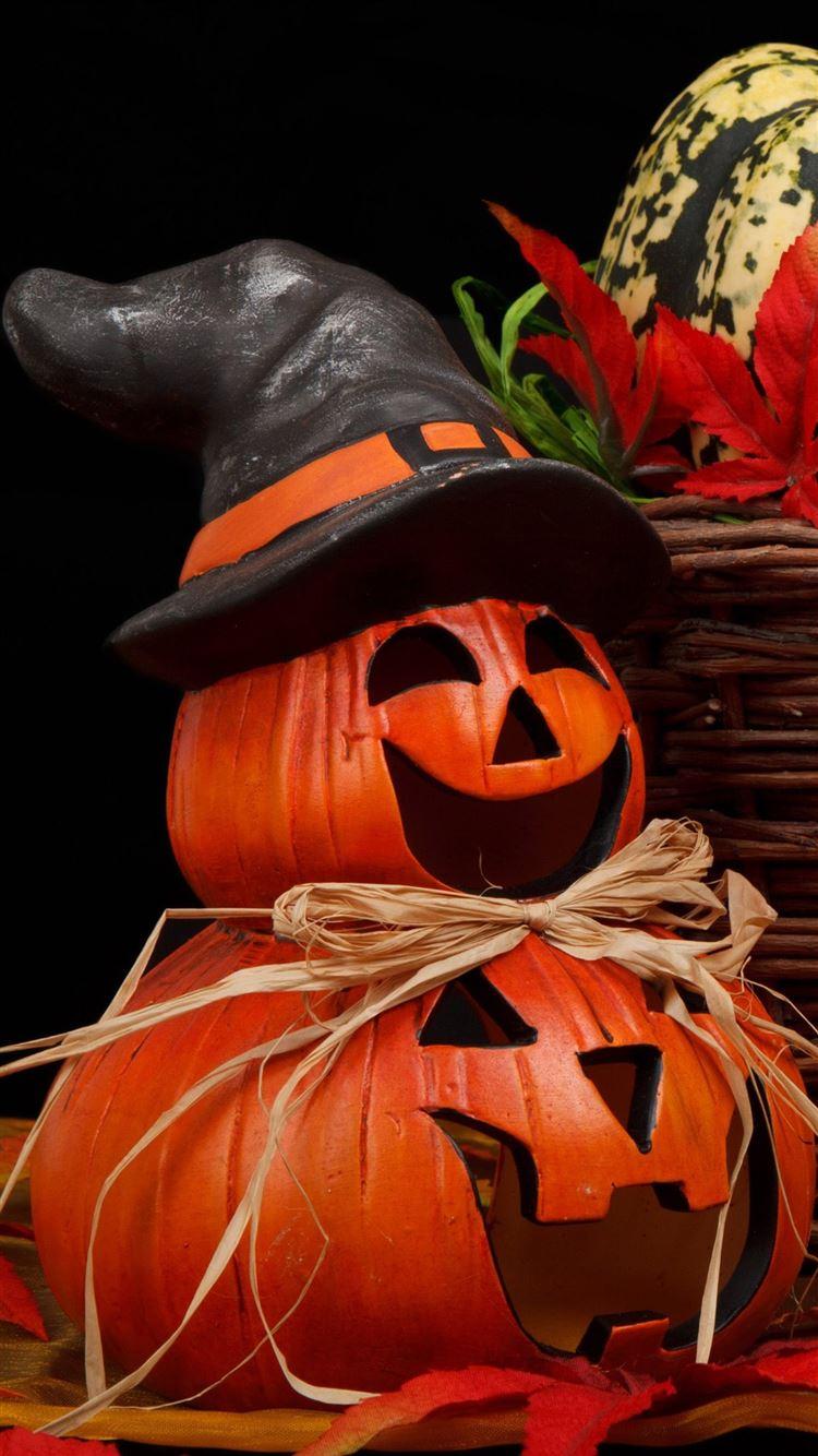 Halloween Tricky Pumpkin Iphone 8 Wallpapers Free Download