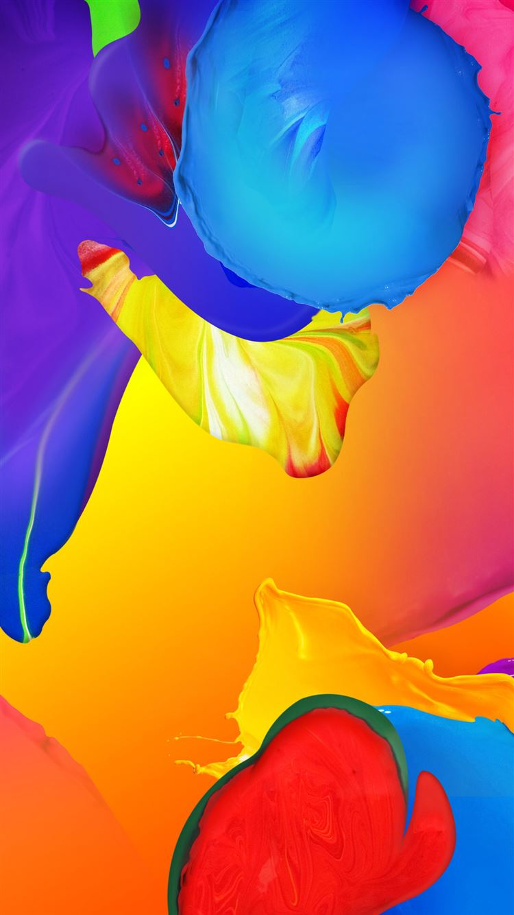 abstract colorful painting iphone 8 wallpaper download | iphone