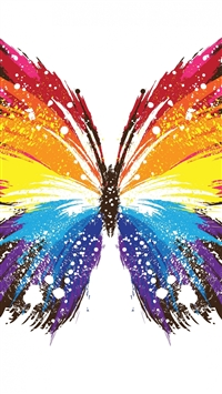 Abstract Butterfly Colorful Pattern iPhone 6(s)~8(s) wallpaper