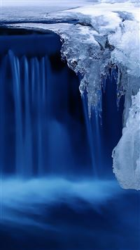 Nature Frozen Ice Waterfall iPhone 6(s)~8(s) wallpaper