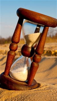 Hourglass Sand Shadow Glass iPhone 6(s)~8(s) wallpaper