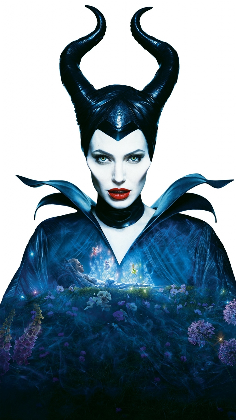 Maleficent Angelina Jolie Horns Fairy Tail Iphone 8 Wallpapers