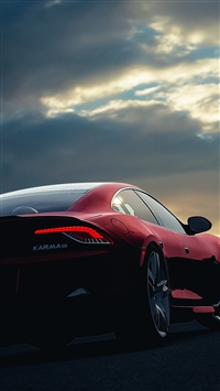 Fisker Karma Car Sunset Night Sky iPhone 6(s)~8(s) wallpaper