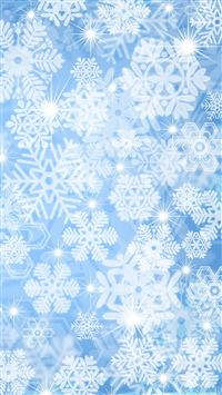 Snow Star Pattern Background iPhone 6(s)~8(s) wallpaper