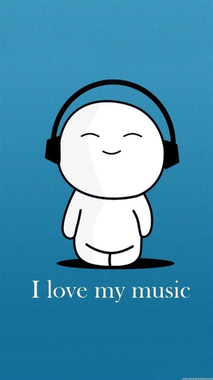 I Love My Music iphone 8 wallpaper ilikewallpaper com