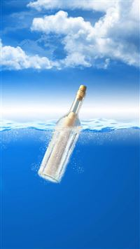 Nature Ocean Drift Bottles iPhone 6(s)~8(s) wallpaper