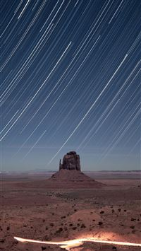 Monument Valley Meteor Shower iPhone 6(s)~8(s) wallpaper