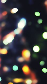 Christmas Tree Lights Bokeh iPhone 6(s)~8(s) wallpaper
