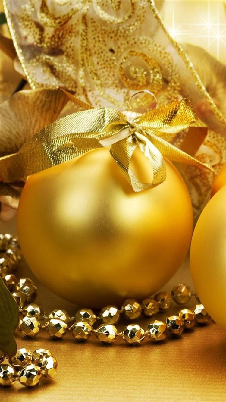 Christmas Golden Egg Ball Iphone 8 Wallpapers Free Download
