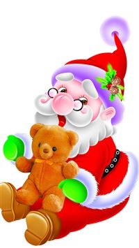 Happy Cute Santa Claus iPhone 6(s)~8(s) wallpaper