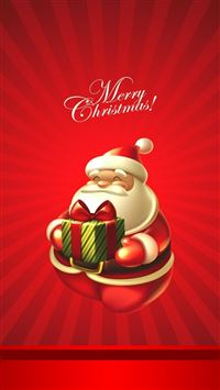 Cute Christmas Santa Claus iPhone 6(s)~8(s) wallpaper