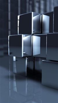 Abstract 3D Cubes iPhone 6(s)~8(s) wallpaper