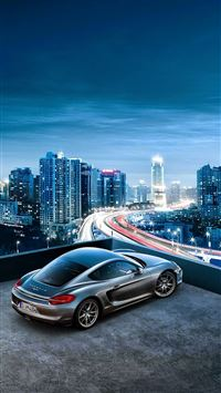 Porsche Cayenne City View iPhone 6(s)~8(s) wallpaper