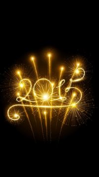 Happy New Year 2015 Fireworks iPhone 6(s)~8(s) wallpaper